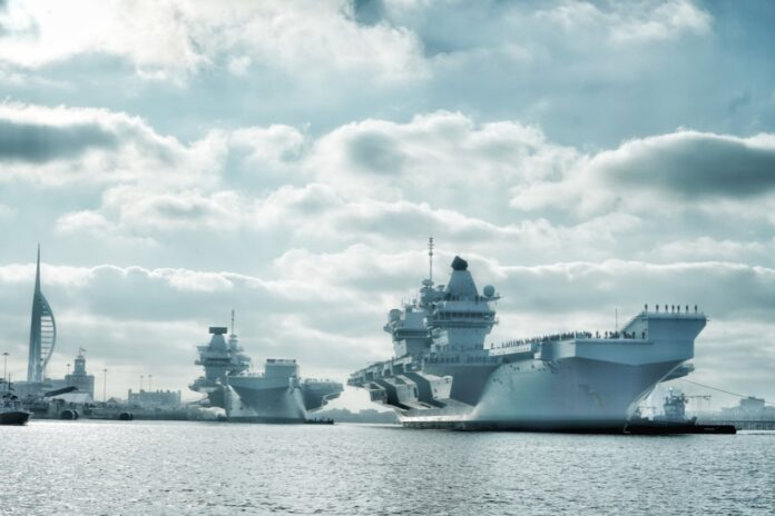 HMS Queen Elizabeth and HMS Prince of Wales are in Portsmouth Naval Base