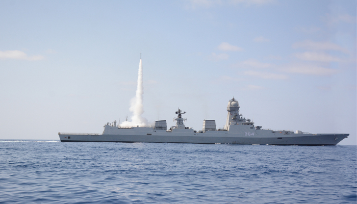 ins kochi test fires a medium range surface to air missile 2019 1 - naval post- naval news and information