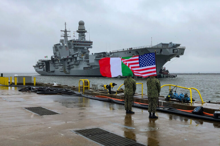 Italian carrier ITS Cavour leaves Norfolk after completing F35B certification