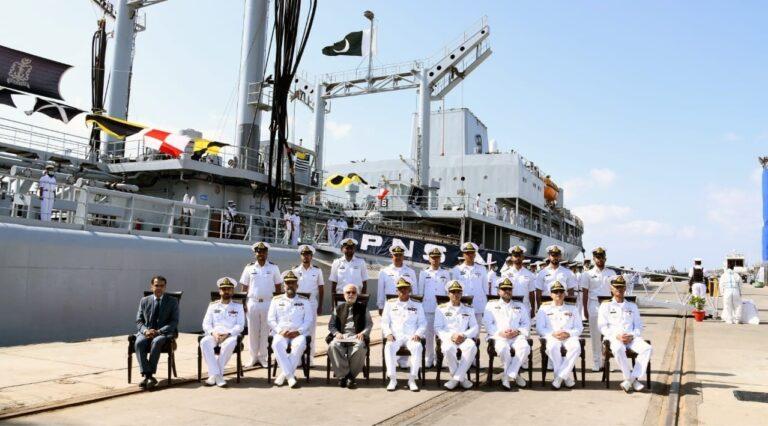PNS NASR arrived at Karachi Port after three months of deployment