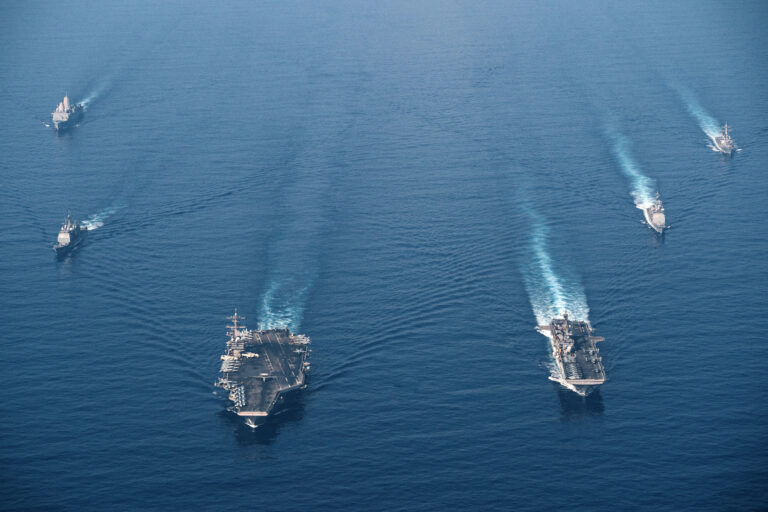 Theodore Roosevelt CSG and Makin Island Amphibious Group conduct integrated ops in South China Sea
