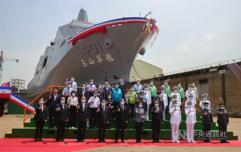 Taiwan shipbuilder CSBC launches the 1st indigenous LPD