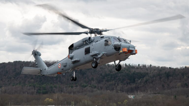 US Navy announces the first flight of Indian Navy's MH-60R Helicopter