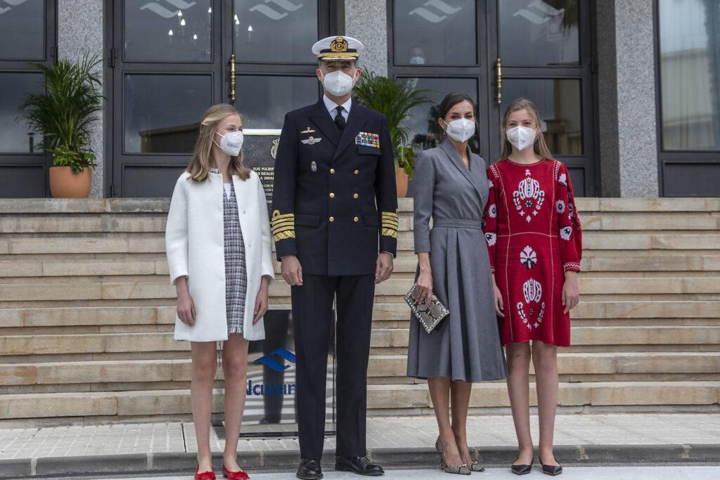 royal family at s-80 plus submarine ceremony