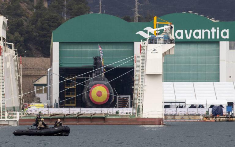 Navantia launches the 1st S-80 Plus class submarine Isaac Peral