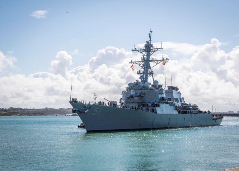 USS Arleigh Burke, Newest FDNF Ship, arrives in Homeport Rota, Spain