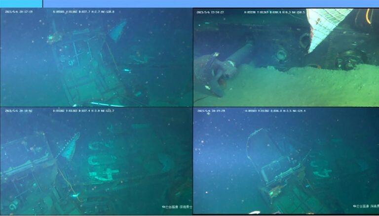 Chinese Navy lifts the life raft of sunken Indonesian submarine