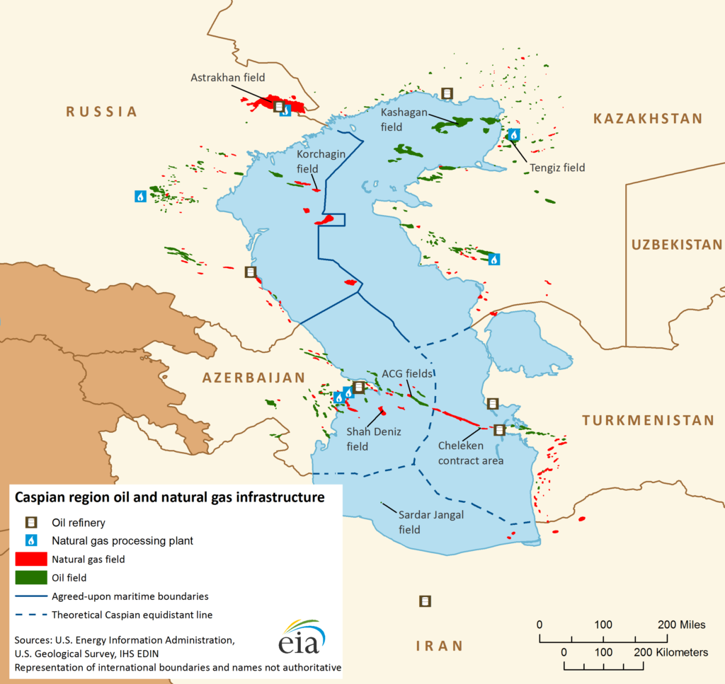 caspian region oil and natural gas infrastructure - naval post- naval news and information