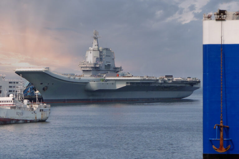 Chinese Shandong aircraft carrier group holds drills in the South China Sea