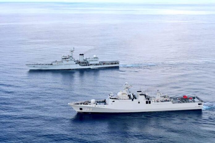 Indonesian and Indian Navy assets conducts PASSEX