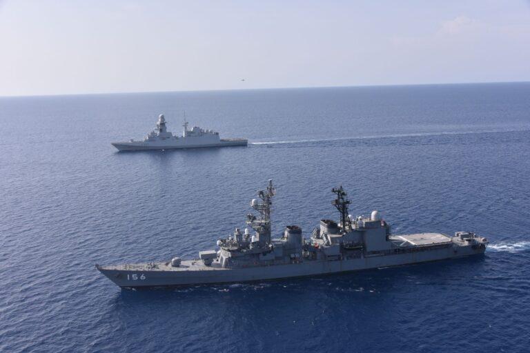 EU-Japan-Djibouti Conduct Joint Naval Exercise