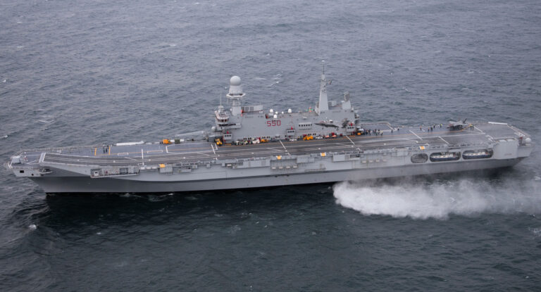 VIDEO: Italian Navy's Aircraft Carrier Cavour returns to its homeport after RFO