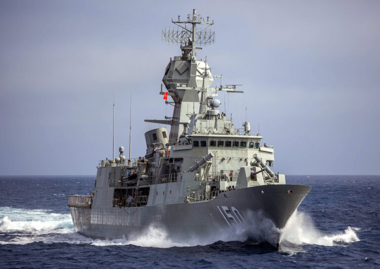 HMAS Anzac supports rescue of Indonesian fishers
