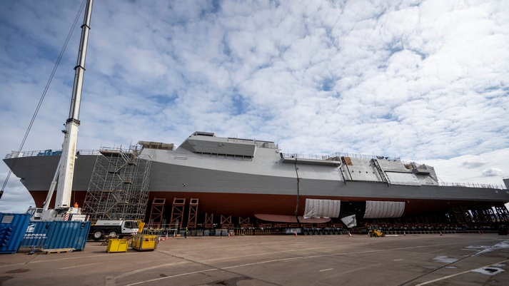 The 1st Type 26 frigate's blocks come together for the first time