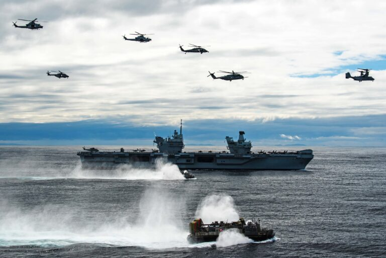 HMS Queen Elizabeth CSG sets sail on seven-month maiden deployment
