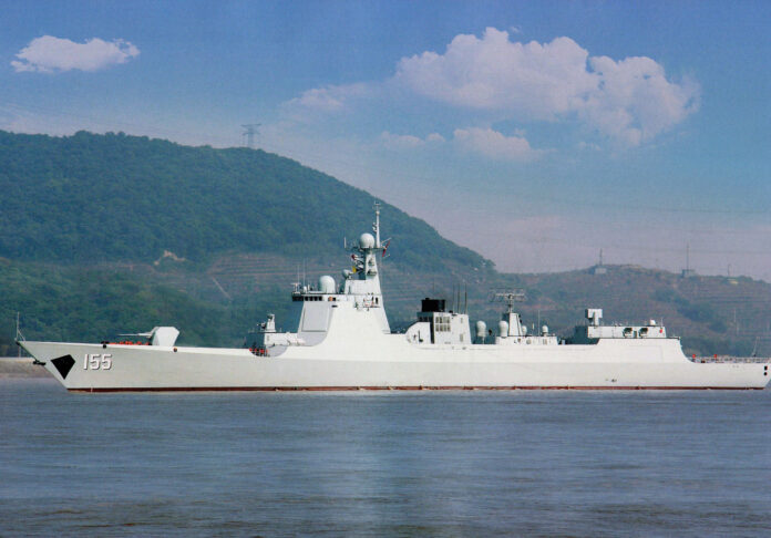 PLA Navy's 8th Type 052D Destroyer Nanjing