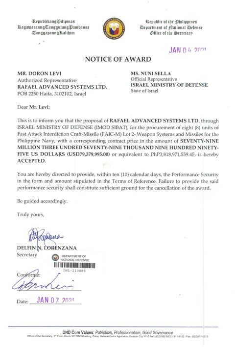 shaldag agreement 4 - naval post