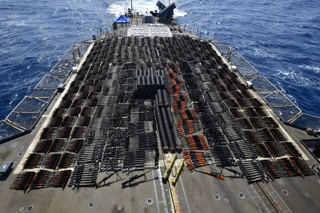 uss monterey seizes illicit weapons - naval post- naval news and information
