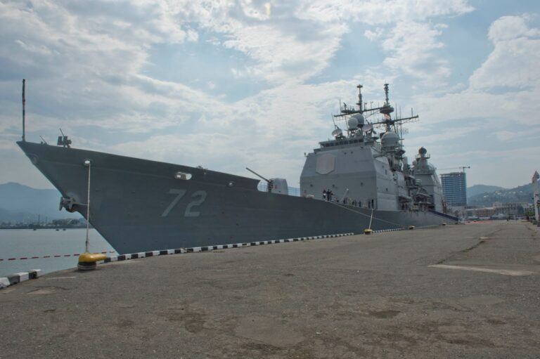 USS Vella Gulf Conducts Port Visit in Rota