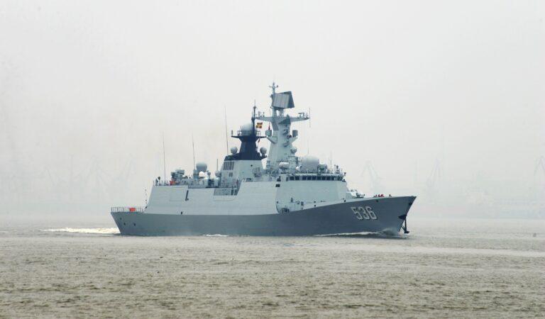 VIDEO: PLA Navy's Type 054A Frigate Xuchang 536