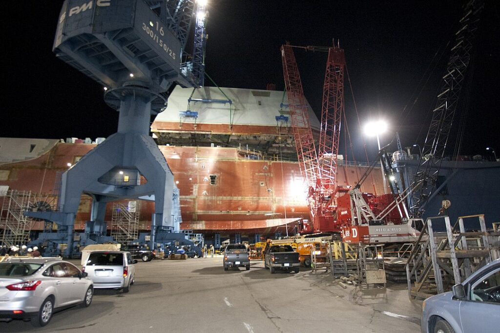 1080px the boathouse of uss zumwalt is moved into position. 8291331134 - naval post- naval news and information