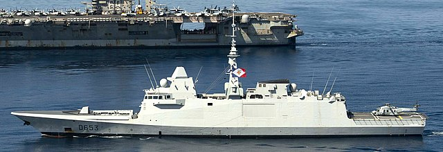 640px the french navy frigate fs languedoc d653 front sails alongside uss dwight d. eisenhower cvn 69 in the mediterranean sea. 51080966828 cropped - naval post- naval news and information