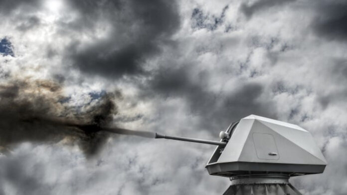 BAE Systems' Bofors 57 Mk3 naval gun system for the Indonesian Navy's KCR-60 fast-attack vessel program (Image: BAE Systems)