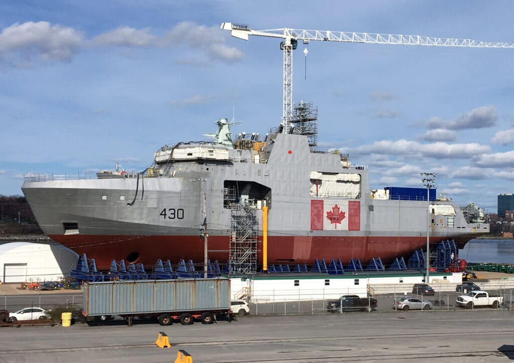 hmcs harry dewolf under construction may 2018 - naval post- naval news and information
