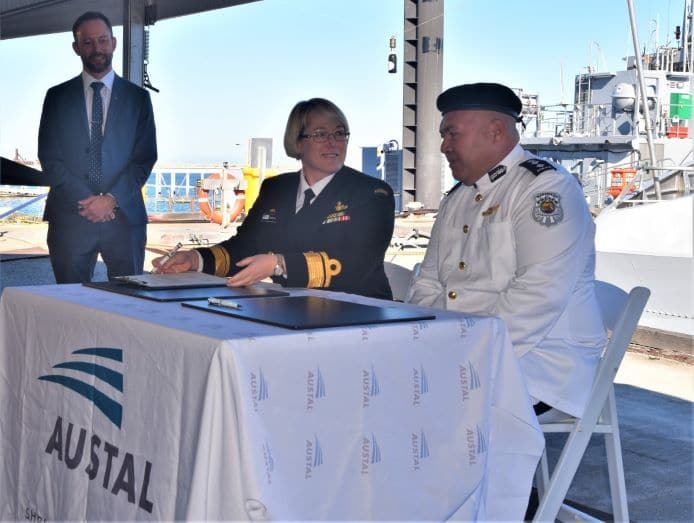 radm malcolm and co redfern signing - naval post- naval news and information