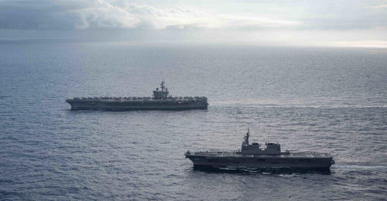 Ronald Reagan CSG Operates with JMSDF