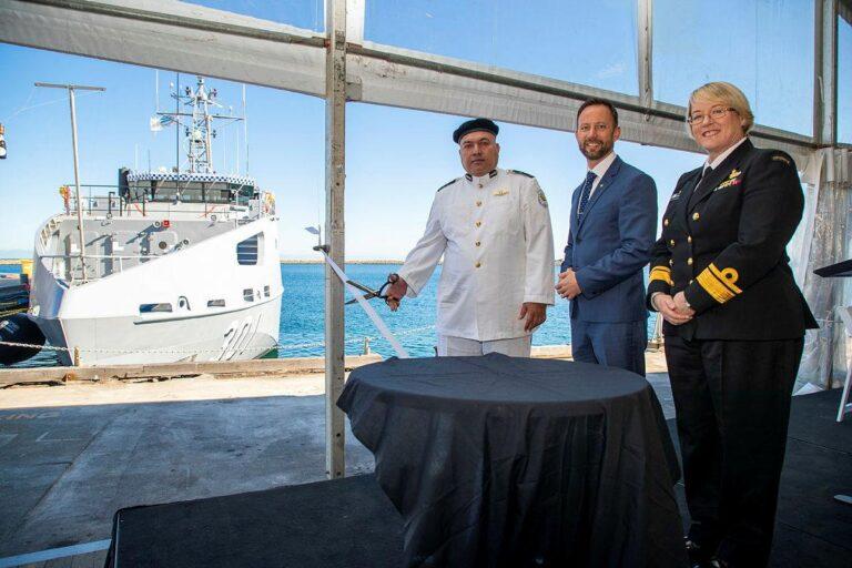 Australia hands over Guardian-class patrol boat to Kiribati