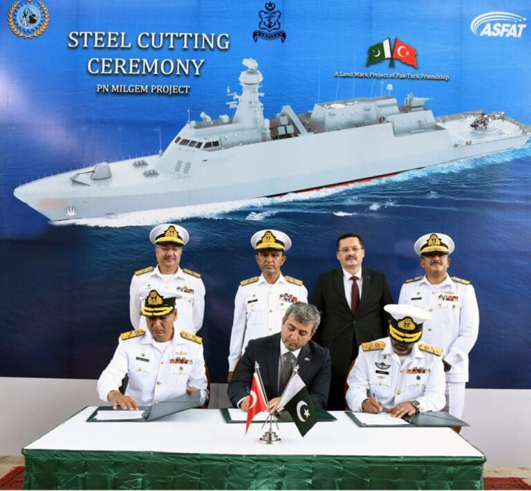 Karachi Shipyard cuts steel for the 4th MILGEM-class corvette for Pakistan Navy