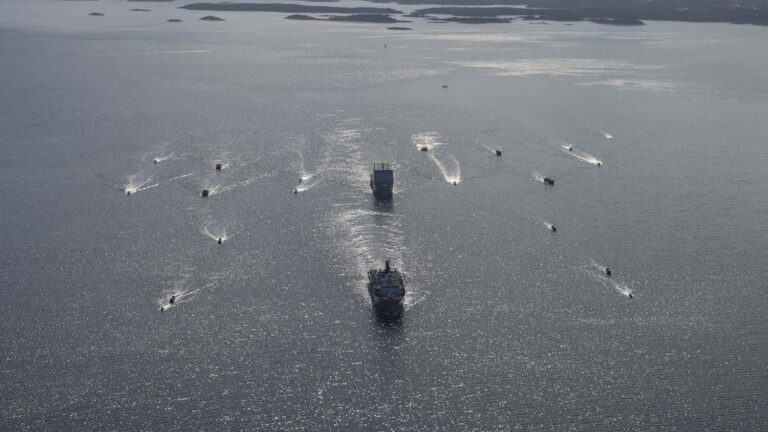 Royal Navy conducts training with Swedish Navy in fjords