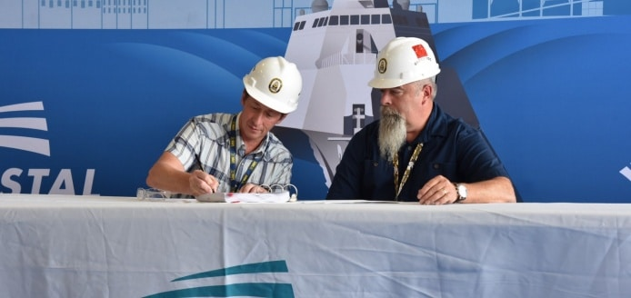 austal usa delivers the future uss savannah (lcs 28) to the u.s. navy