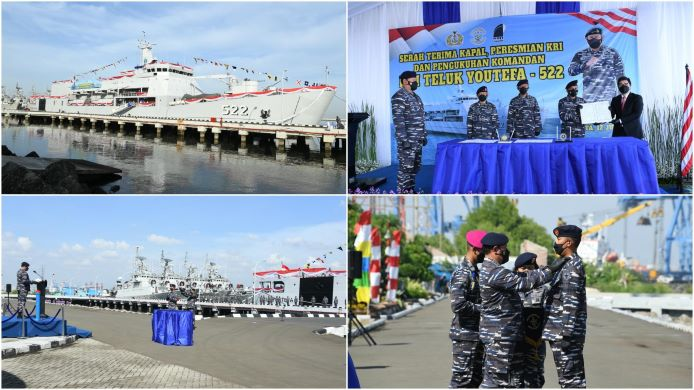indonesian navy commissioned kri youtefa-522 on july 12, 2021