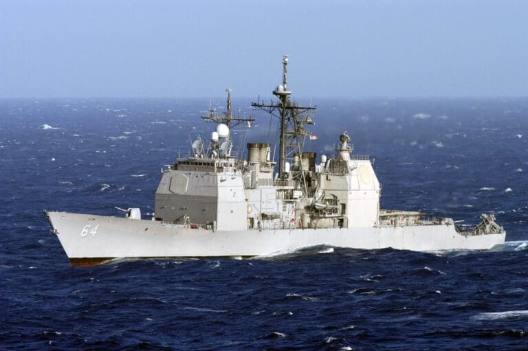 USS Gettysburg catches on fire in repair yard, 4 sailors treated at hospital