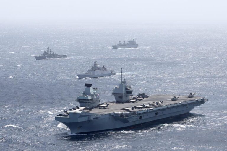 Indian Navy holds drills with UK Carrier Strike Group