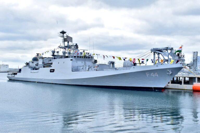 Indian frigate INS Tabar visits Brest, France