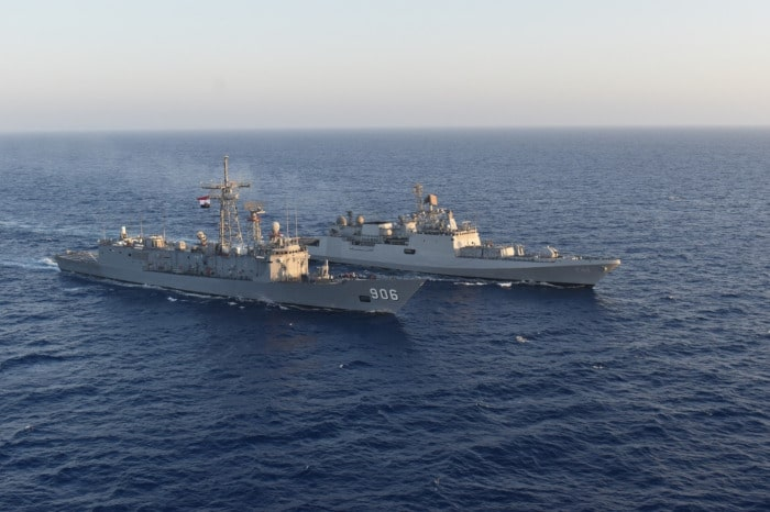 "Indian frigate ""INS Tabar"" visits Alexandria, Egypt"