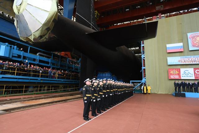 Sevmash floats out fourth Yasen class nuclear attack submarine, Krasnoyarsk