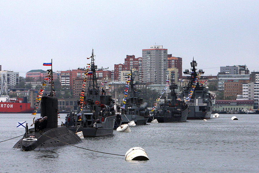 russian naval parade vladivostok - naval post- naval news and information