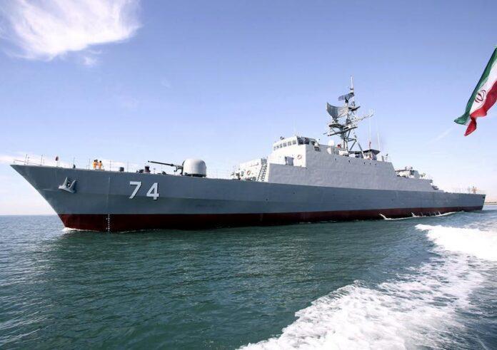 Iranian Navy's Moudge Class Frigate Sahand
