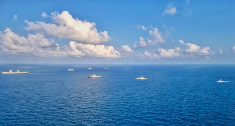 Singapore Navy trains with Queen Elizabeth Carrier Strike Group