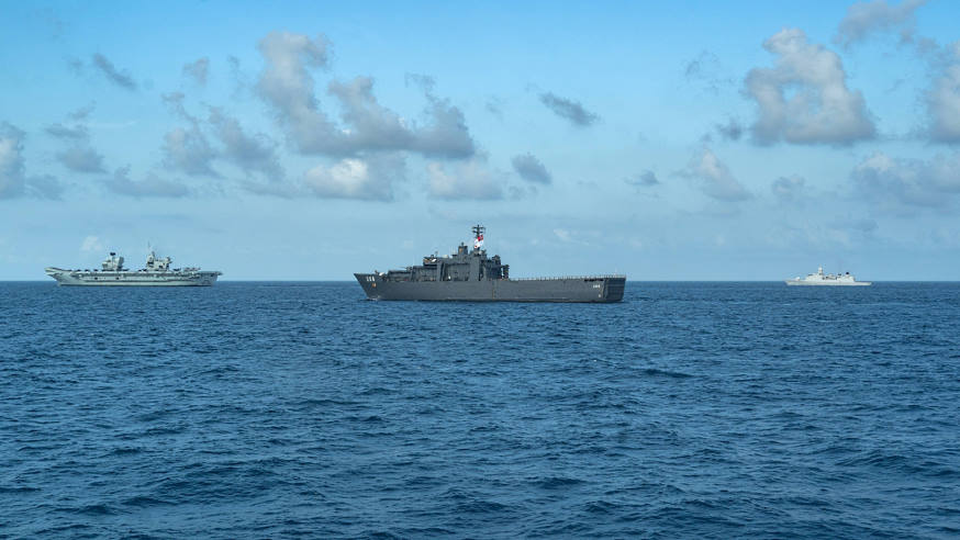 singapore uk carrier strike group - naval post- naval news and information