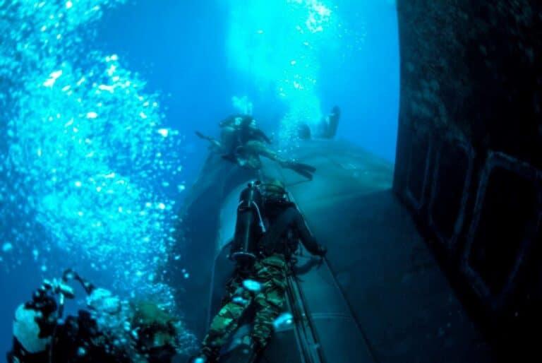 U.S. Navy submarine holds interoperability drills with Navy Seals