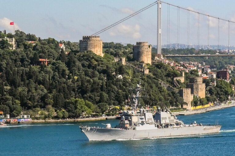 USS Ross and USNS Yuma Depart the Black Sea