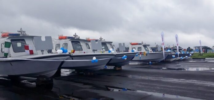 50 assualt gunboats and drones donated to the Nigerian Navy.