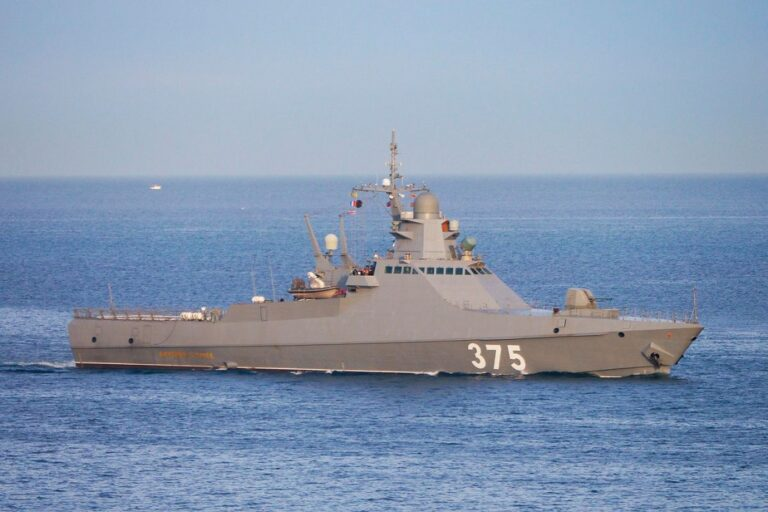 Russian patrol ships hold live-firing drills in the Black Sea