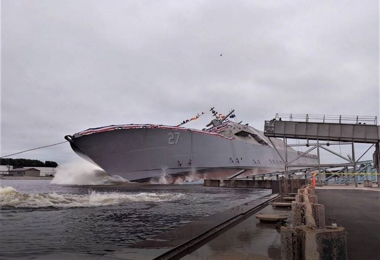 USS Nantucket (LCS 27) Christened And Launched