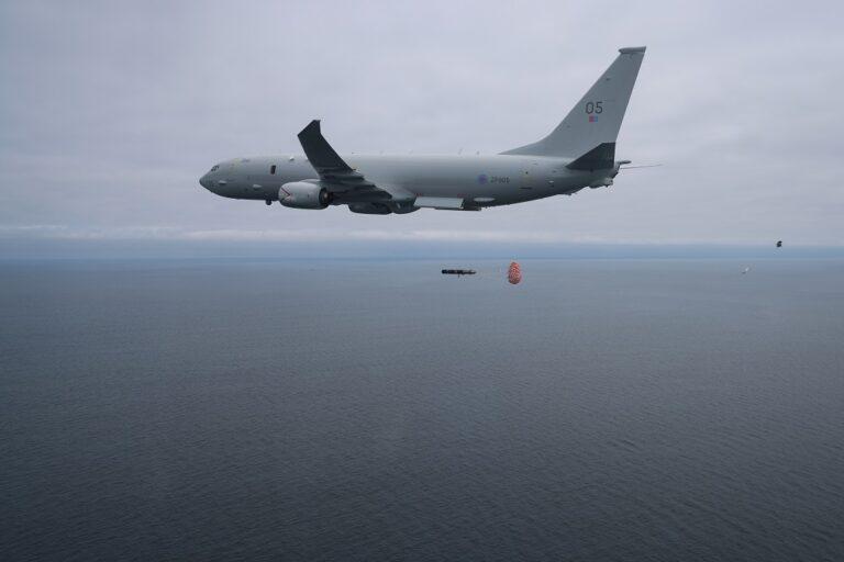 Royal Air Force Poseidon P-8A MPA launches 1st torpedo
